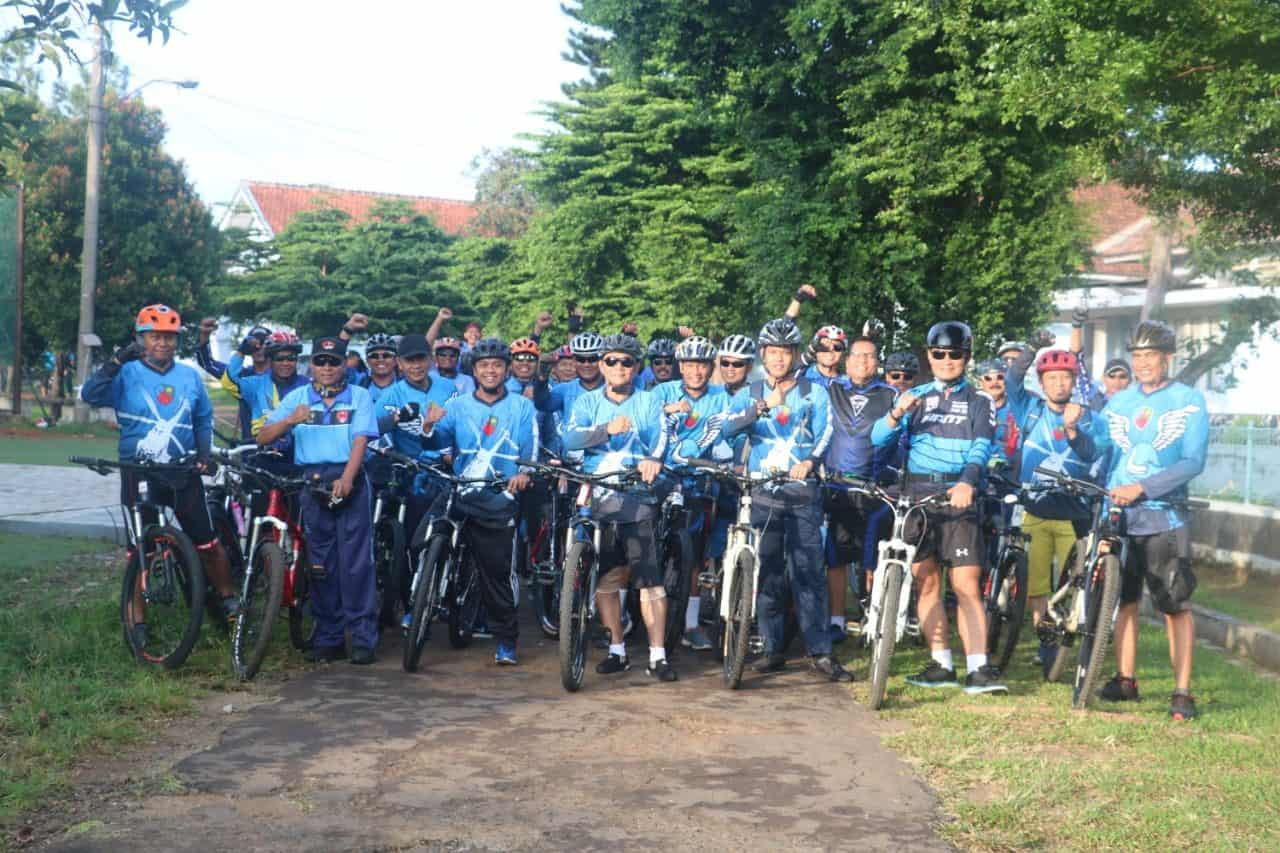 Danlanud Atang Sendjaja Ajak Bikers Lanud Ats Gowes Bersama