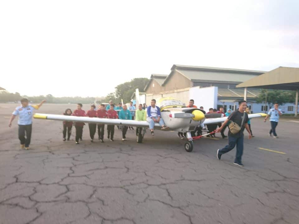 Pemindahan AS 202 Bravo ke SMP dan SMA Angkasa Adisutjipto