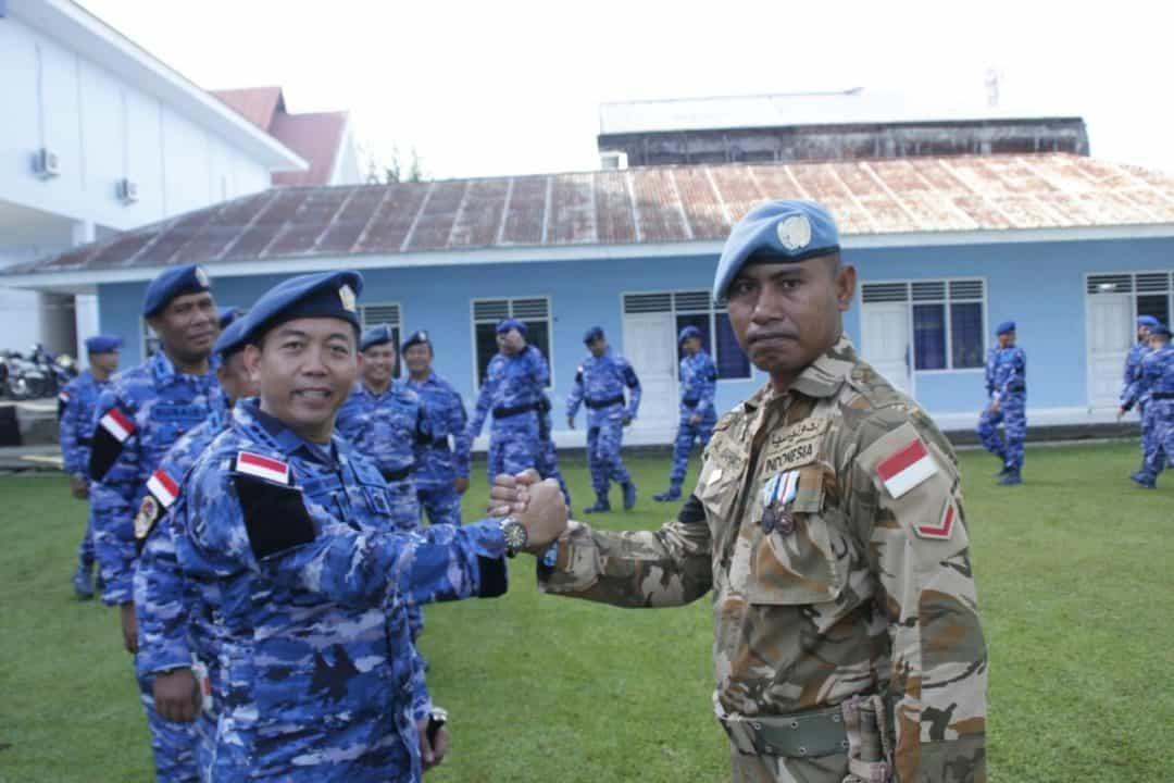 Komandan Lanud Sam Ratulangi Sambut Kedatangan Purna Tugas TNI Konga Tahun 2019