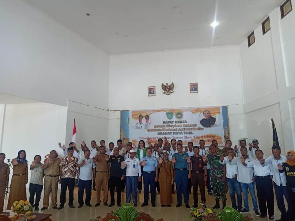 Danlanud D. Dumatubun menghadiri Raker Bersama Dewan Pimpinan Granat.
