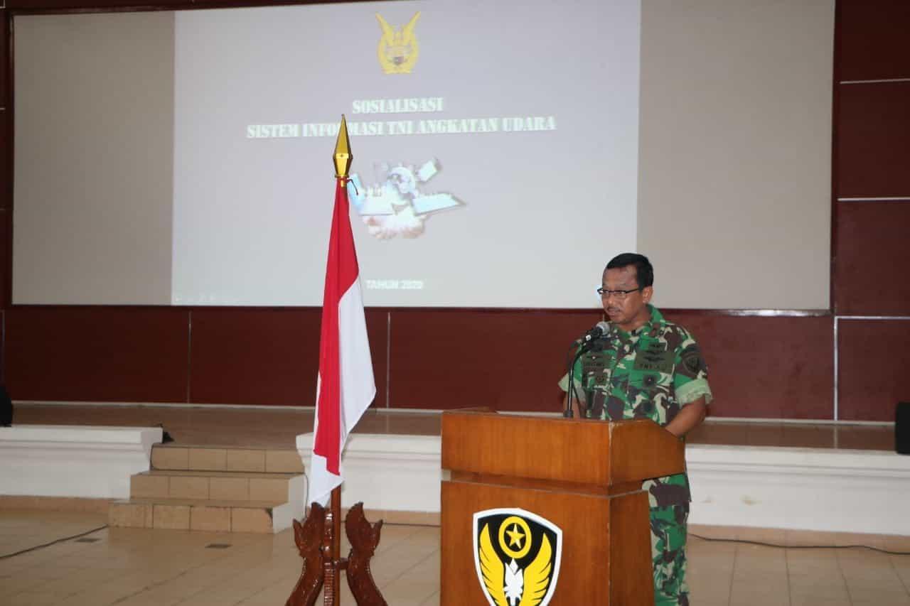 Sosialisasi Sistem Informatika TNI AU TA.2020 Di Kodiklatau.
