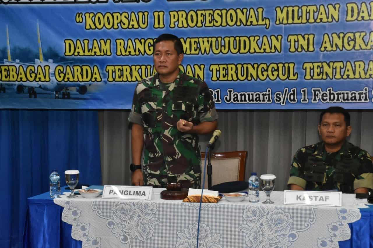 Pangkoopsau II Membuka Secara Resmi Pelaksanaan Rakernis Koopsau II TA. 2020.