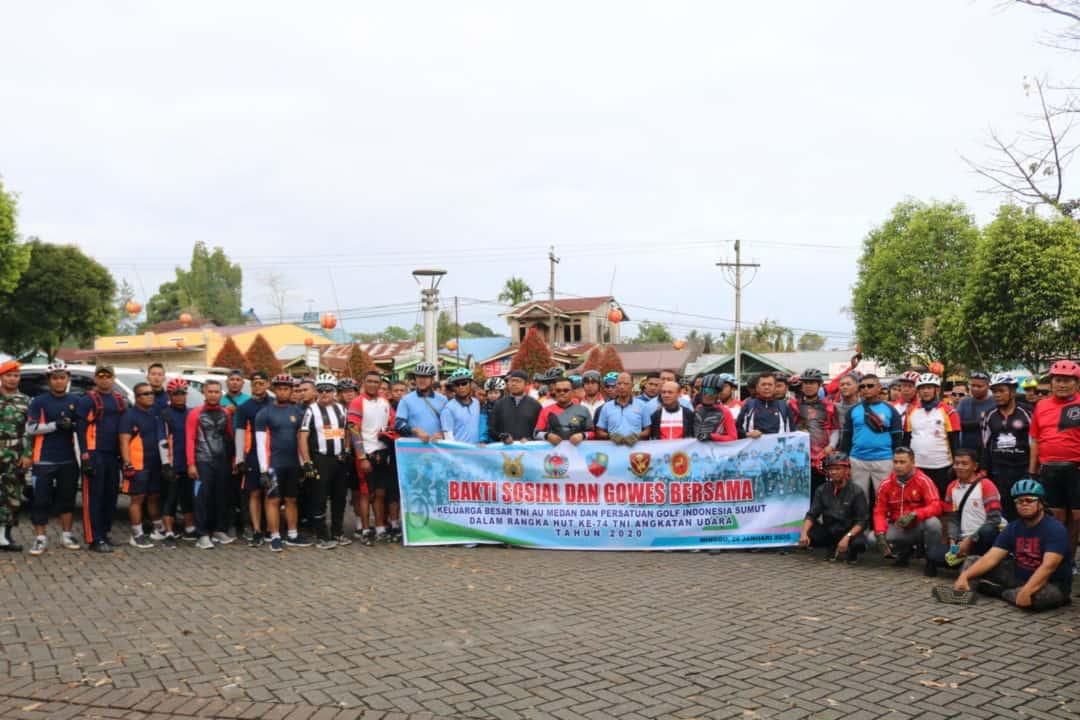 Gowes Bersama TNI AU Medan Dengan PGI Sumut