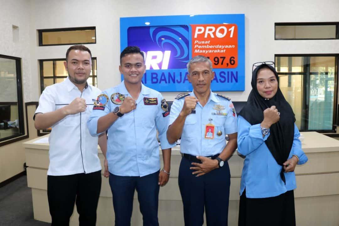 Mengawali Jabatannya, Kadispers Lanud Sjamsudin Noor Gelar Dialog di RRI Banjarmasin