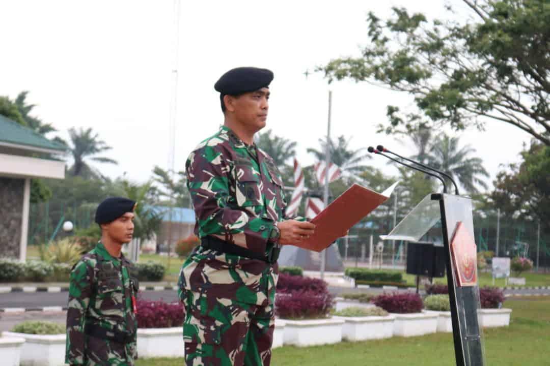 Asintel Kosekhanudnas III Pimpin Upacara Bendera di Makosekhanudnas III