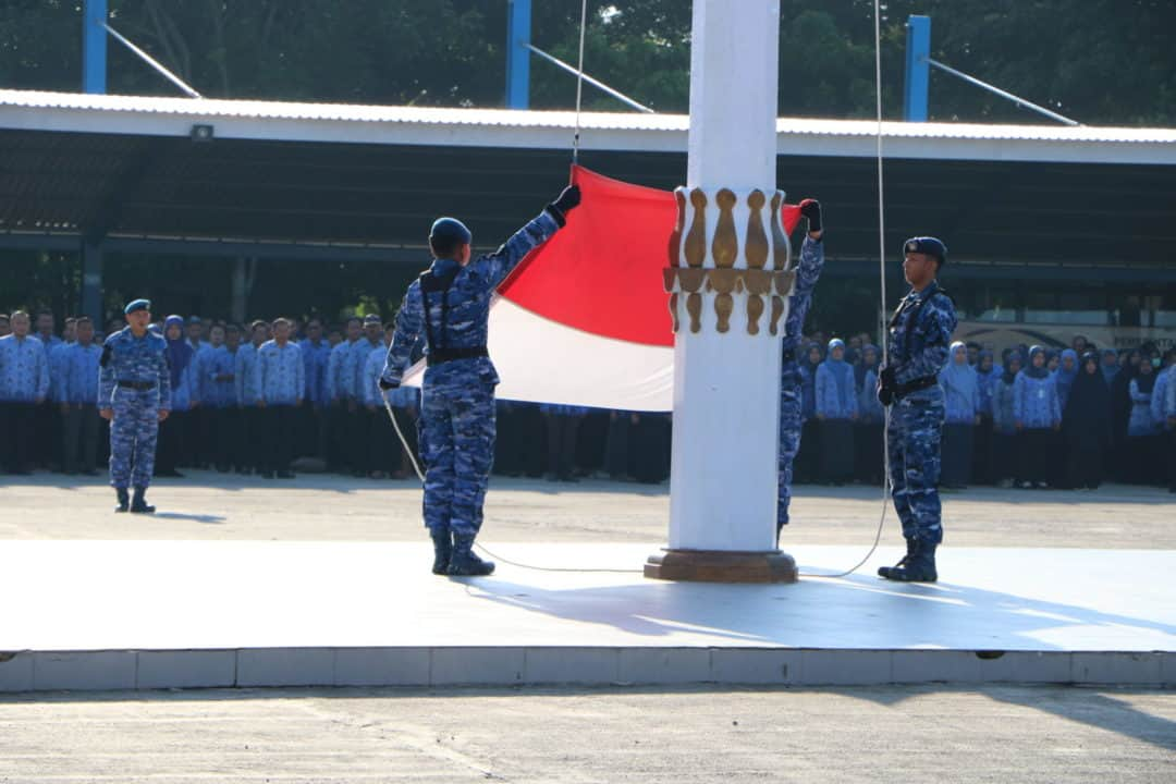 Komandan Lanud Sultan Hasanuddin Irup Upacara bendera 17-an di Kab. Maros Sulawesi Selatan
