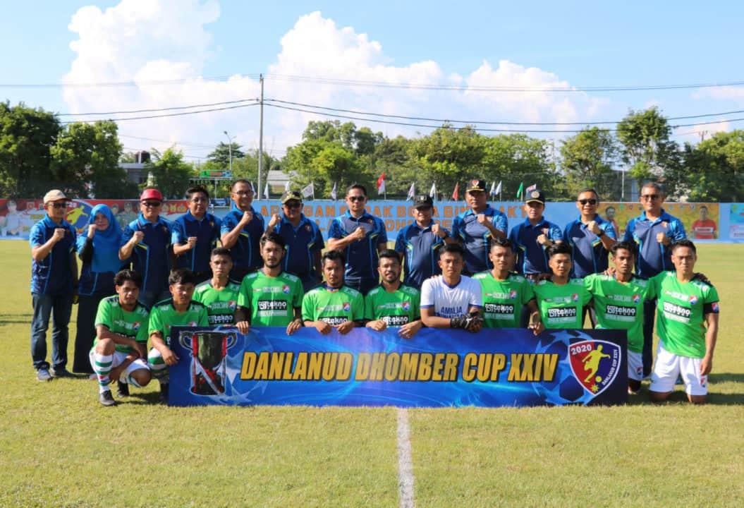 42 Tim Sepak Bola Mulai Berlaga Di Danlanud Cup XXIV 2020