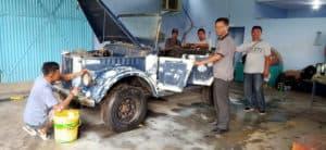 Restorasi Mobil Gaz di Muspusdirla