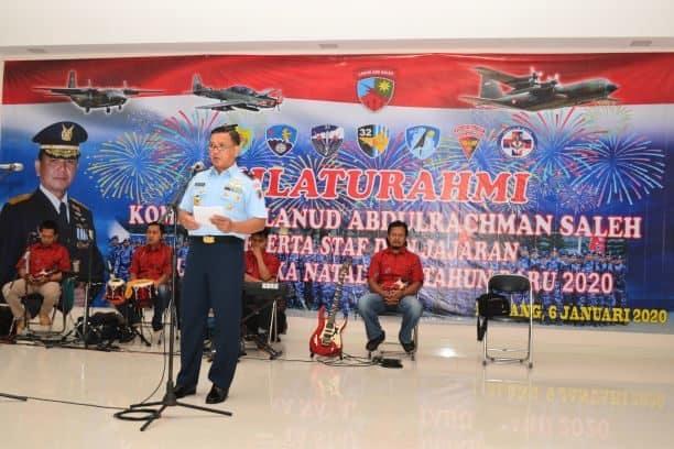 Acara Silaturahmi Danlanud Abdulrachman Saleh Bersama Staf dan Anggota
