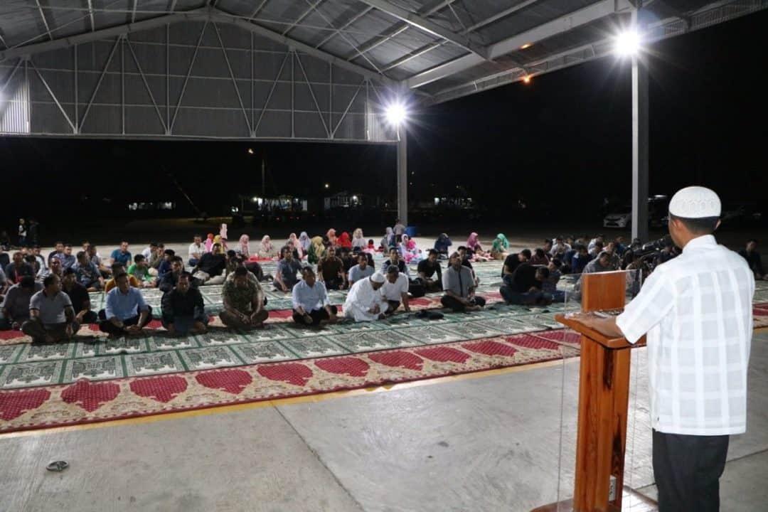 Sambut Tahun Baru 2020, Keluarga Besar Lanud SIM Laksanakan I'tiqaf dan Doa Bersama