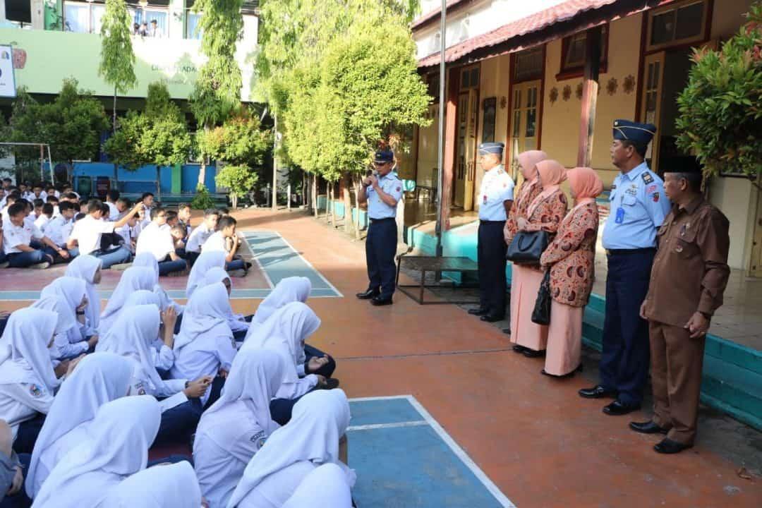Lanud Sutan Sjahrir Sosialisasikan SMA Pradita Dirgantara Tahun Pelajaran 2020/2021