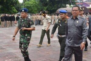 Komandan Lanud Sugiri Sukani Mengikuti Kegiatan Apel Siaga Bencana