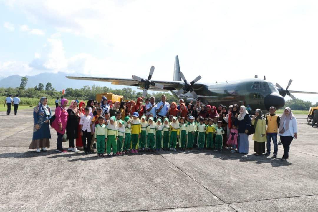 Lanud Sutan Sjahrir Terima Kunjungan Siswa-Siswi Tk Aisyah Tanjung Bungo Kabupaten Lima Puluh Kota