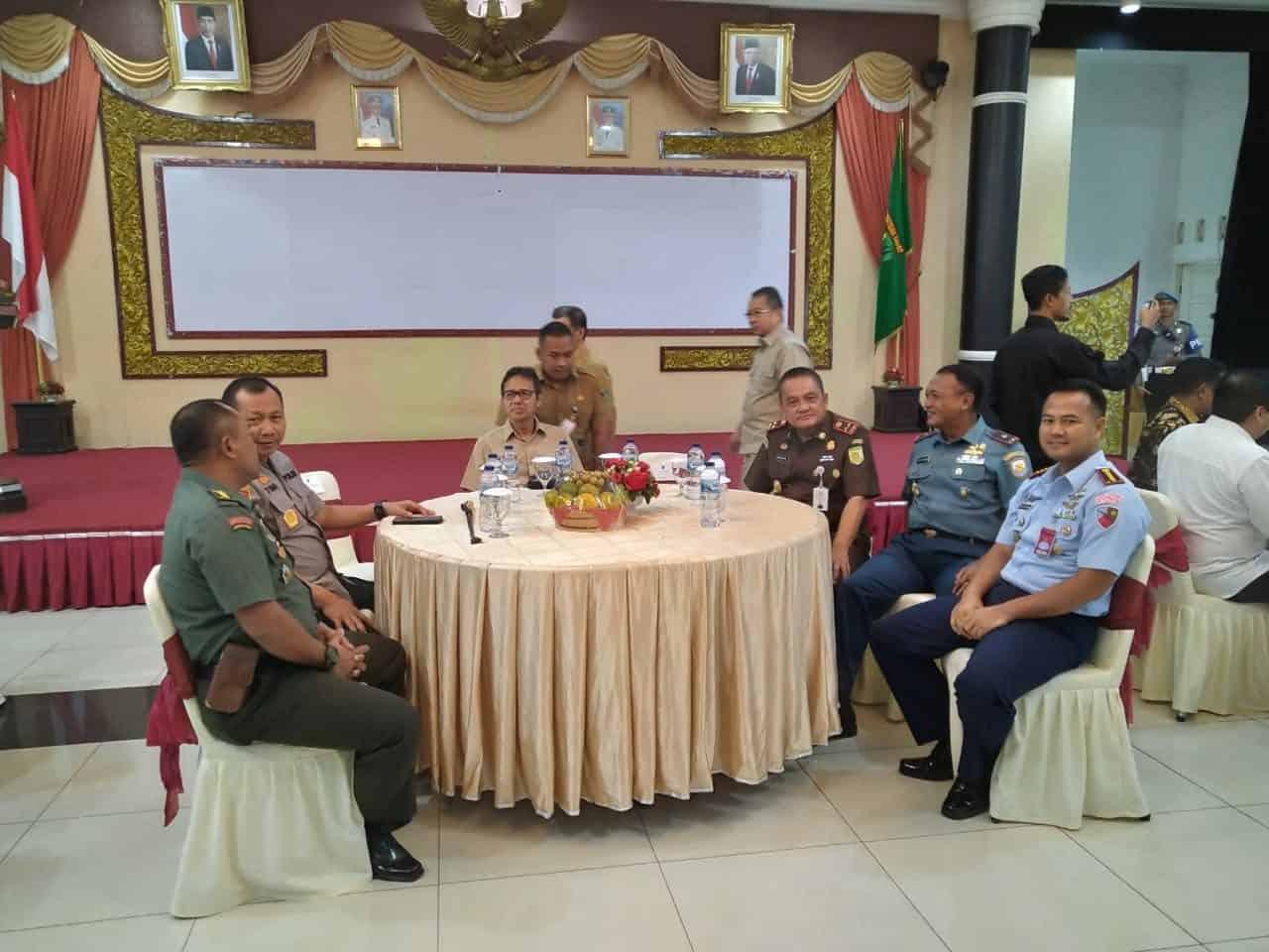Komandan Lanud (Danlanud) Sutan Sjahrir Kolonel Nav Medi Rachman, S.E. MBA Avi Mgt, MMOASc, PhD., Coffee Morning Dengan Unsur Forkompimda Provinsi Sumatera Barat