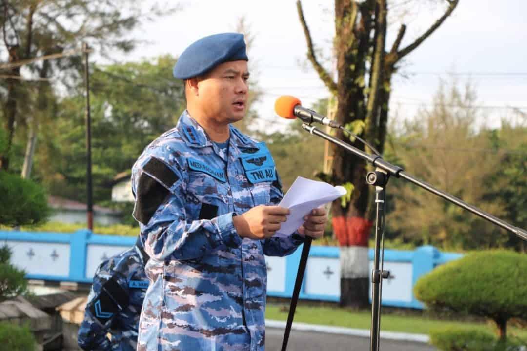 Danlanud Sutan Sjahrir Pimpin Upacara Bendera 17-an
