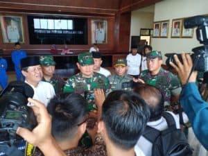 Danlanud RHF Sambut Kunjungan Kerja Pangkogabwilhan I ke Tanjungpinang