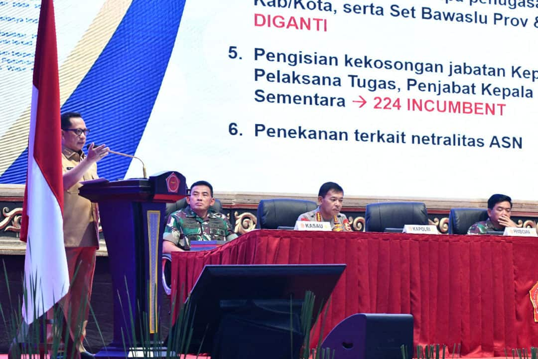 Kasau Ikuti Rapim TNI-Polri 2020