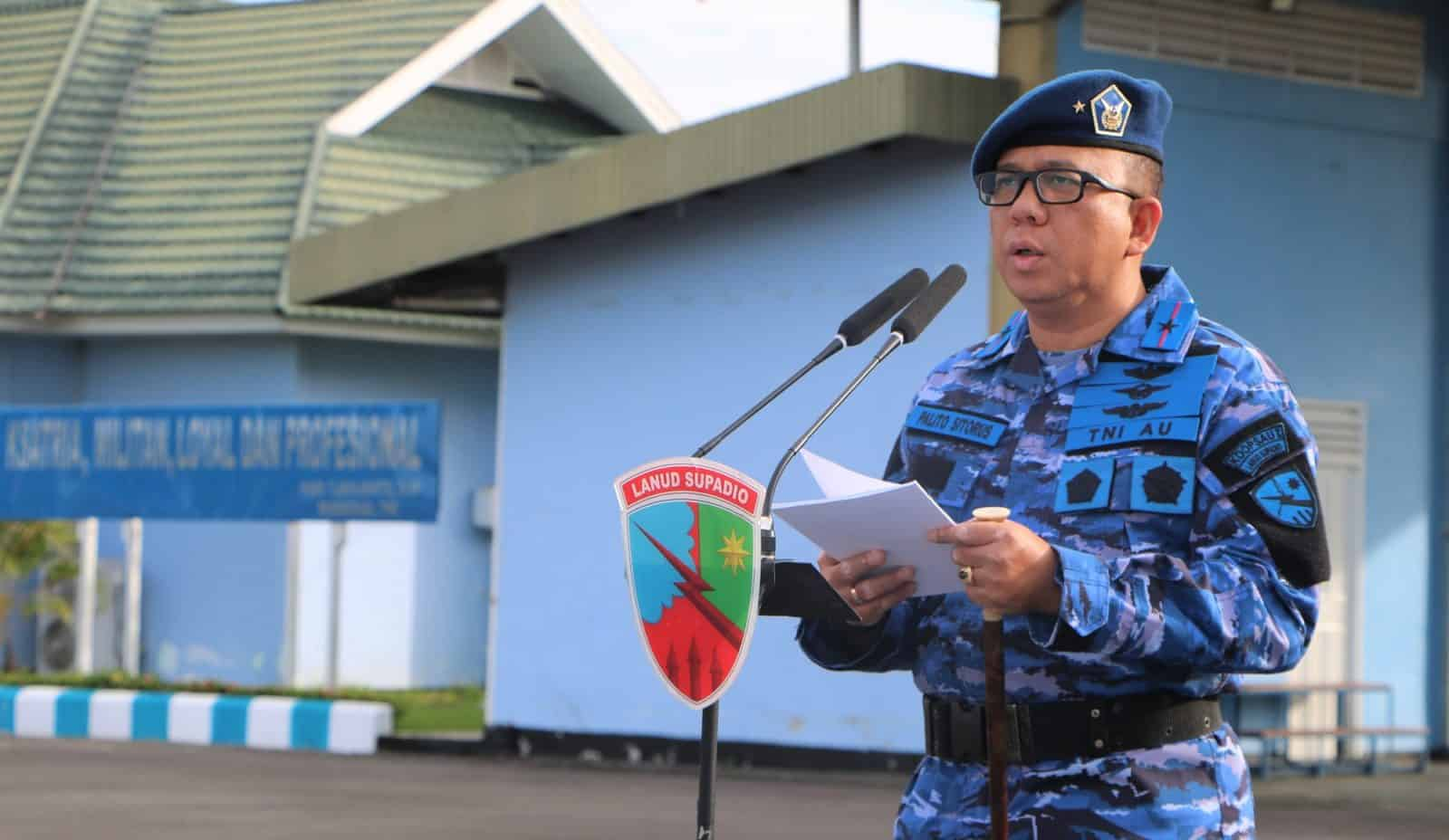 Pangkalan TNI AU Supadio Gelar Upacara Bendera