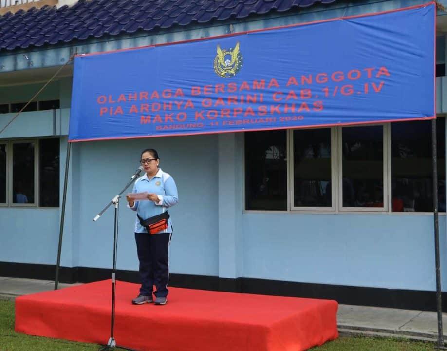Pia Ardhya Garini Cabang. 1 /Gabungan IV Mako Korpaskhas Gelar Olahraga Bersama