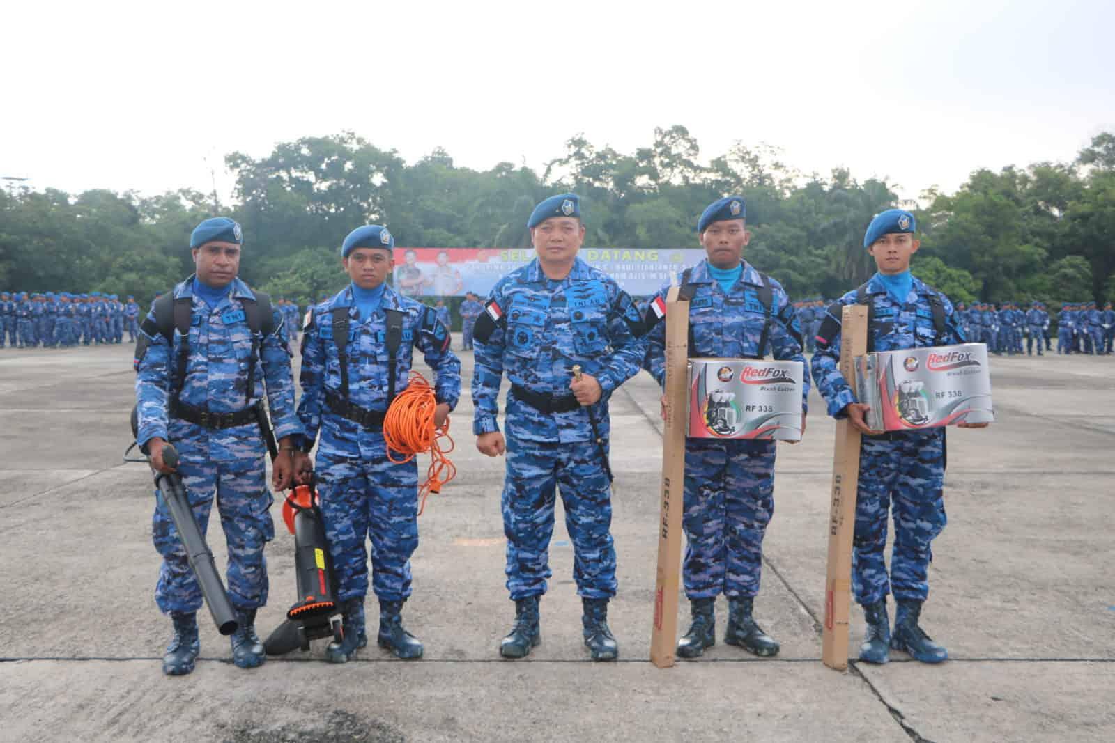 Danlanud Rsn Ajak Insan TNI AU Cinta Kebersihan