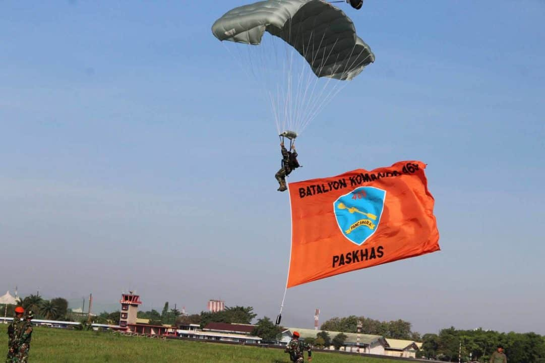 Yonko 469 Paskhas berpartisipasi dalam Soewondo Air Force Base Open Day 2020