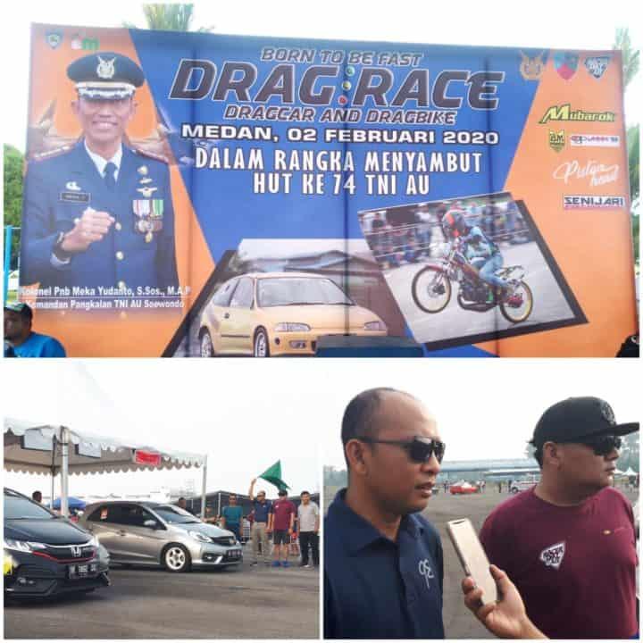 Meriahkan HUT Ke-74 TNI AU, Lanud Soewondo Gelar Drag Race