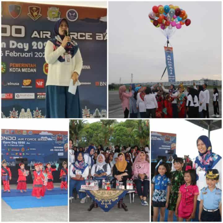 Ketua Yasarini Cabang Lanud Soewondo, Ny. Meka Yudanto Secara Resmi Buka Angkasa Expo 2020