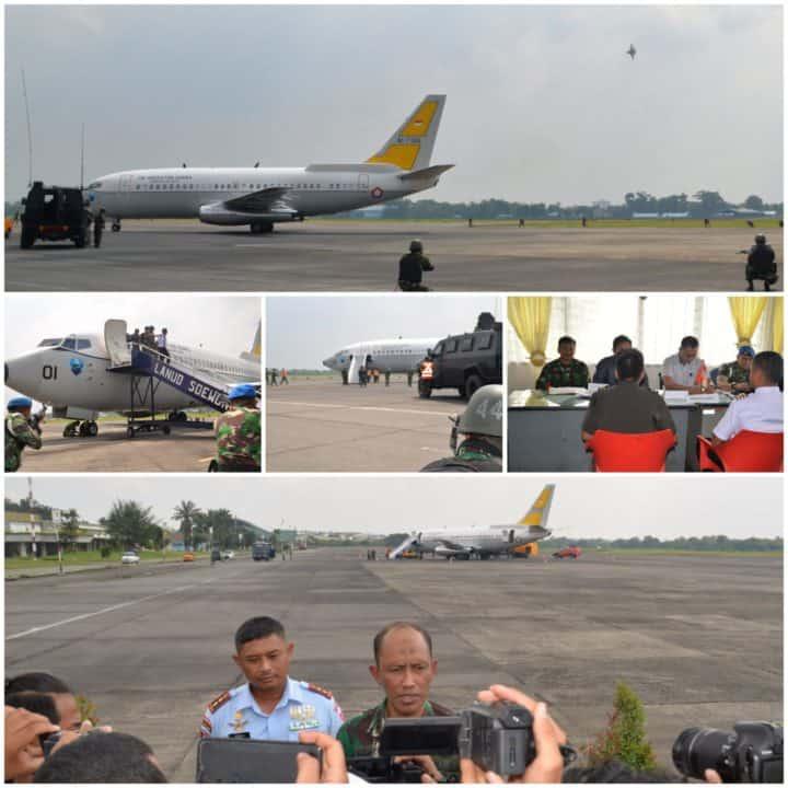 Pesawat Tempur F-16 Force Down Pesawat Asing Di Lanud Soewondo