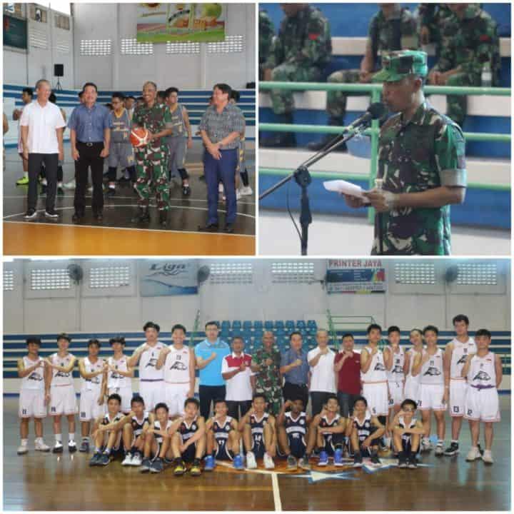 Danlanud Soewondo Buka Turnamen Basket Soewondo Cup 2020 Antar Pelajar