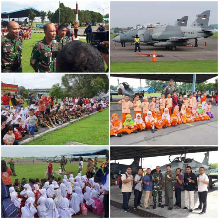 Ribuan Pelajar Kunjungi Lanud Soewondo, Saksikan Alutsista TNI AU