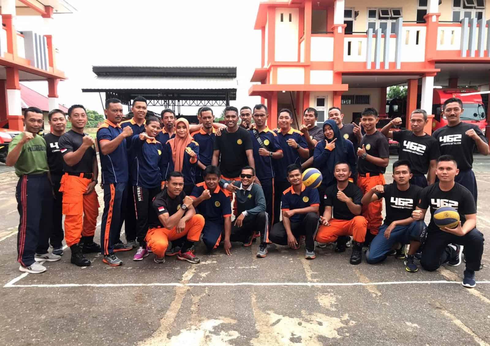 Satgas Yonko 462 Paskhas Melaksanakan Apel Gabungan Dan Olahraga Bersama