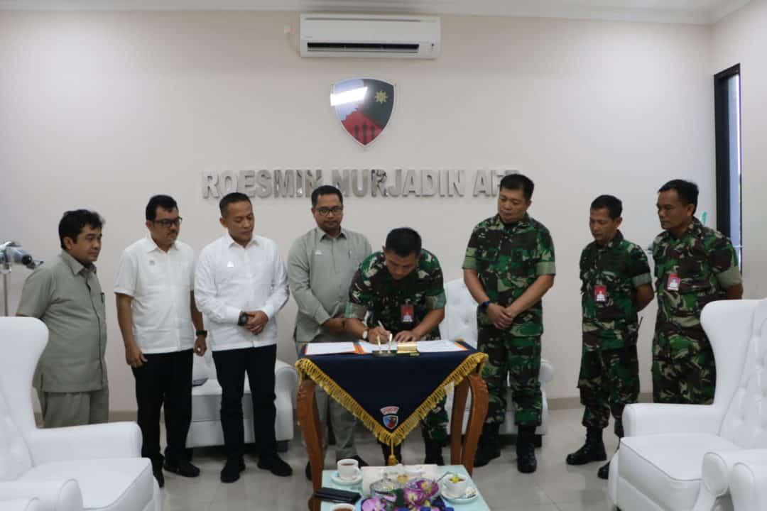 Danlanud Rsn disambangi Direktur Utama PTPN 5