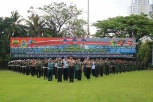 Prajurit Yonko 469 Paskhas Ikuti Upacara Gaktib dan Yustisi TA. 2020