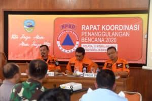 Danlanud Wiriadinata menghadiri rakor siap siaga bencana
