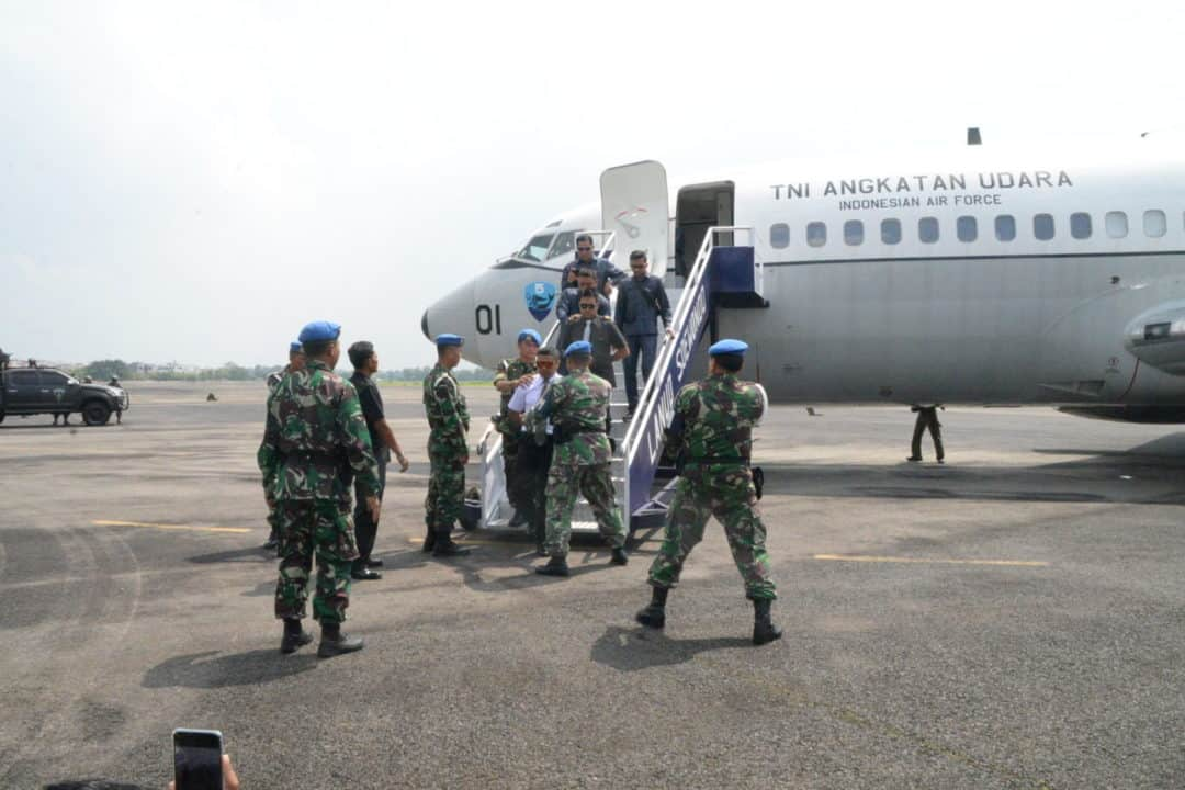 Kosekhanudnas III Melakukan Forcedown Pesawat Asing di Lanud Soewondo