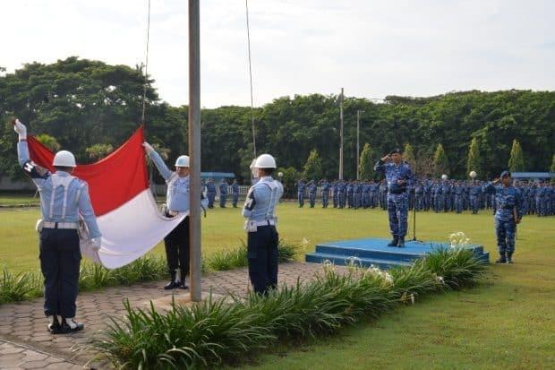 Upacara 17-An di Lanud Muljono Surabaya