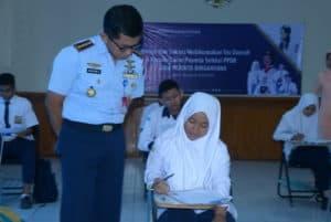 Pelaksanaan Tes Seleksi Daerah PPDB SMA Pradita Sirgantara di Lanud Sim