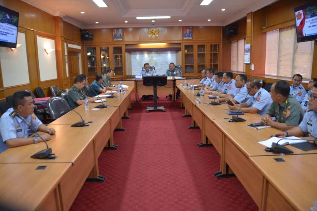 EXIT BRIEFING AKHIRI WASRIK ITJEN TNI DI KOHANUDNAS