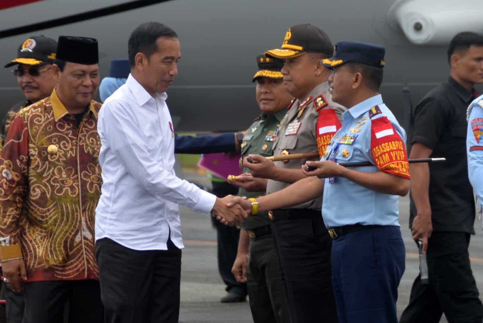 Komandan Lanud Sjamsudin Noor Sambut Kedatangan Presiden RI