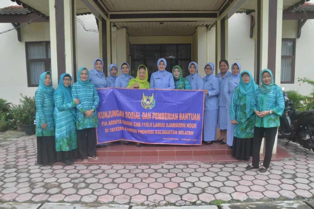 Pia Ardhya Garini Cab. 11/D. II Lanud Sjamsudin Noor kunjungi Yayasan Kanker Indonesia Cabang Kalimantan Selatan