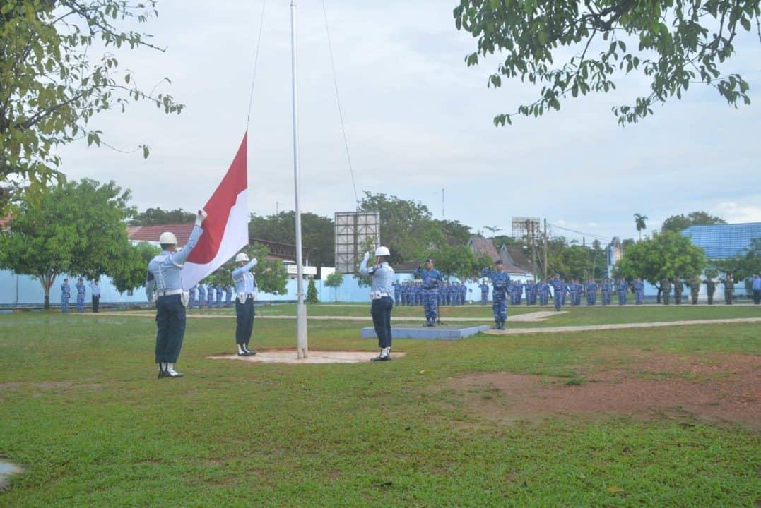 Upacara Bendera 17- an Bulan Februari 2020 di Lanud Sjamsudin Noor