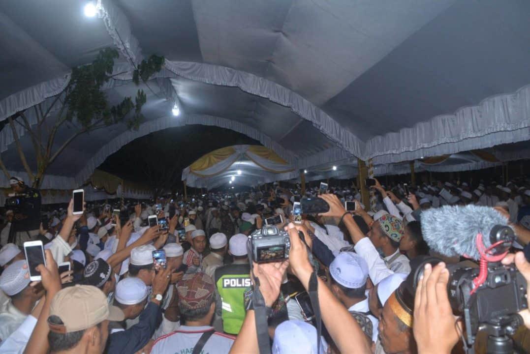 Komandan Lanud Sjamsudin Noor Hadiri Sholawat dan Tabligh Akbar