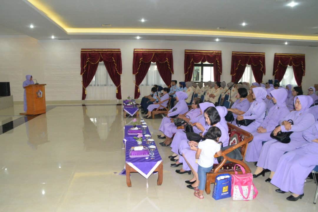 Pertemuan Anggota IKKT PWA Cabang 04-Kosekhanudnas III dan Sosialisasi Virus Corona