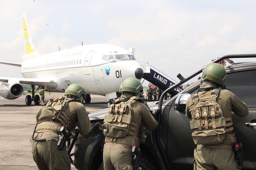 Yonko 469 Paskhas Melaksanakan Force Down Dalam Rangka Latihan Cakra C-20 TA. 2020