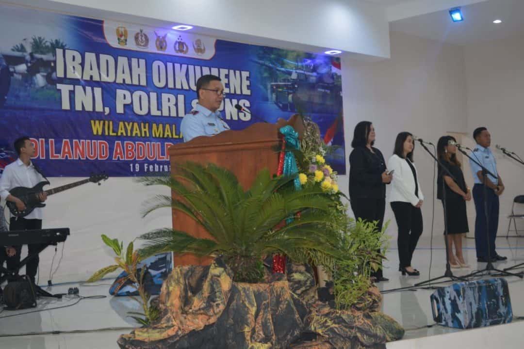 Ibadah Oikumene TNI, Polri dan PNS Kristiani Se-Malang Raya di Lanud Abd Saleh