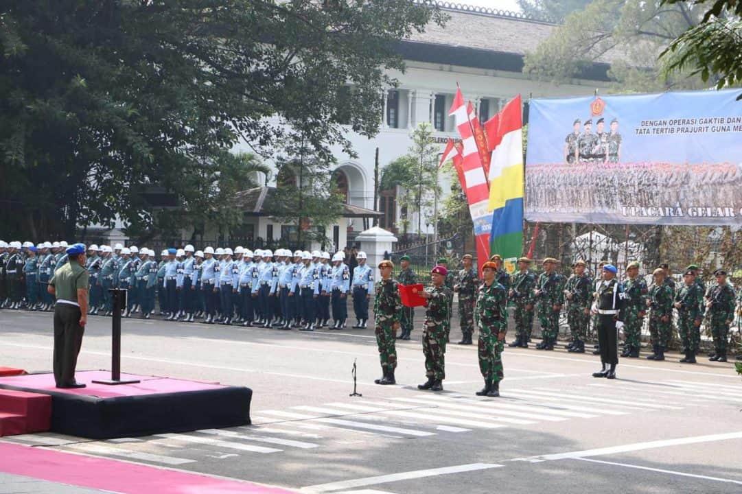 Upacara Gaktib Ops dan Yustisi Polsi Militer Tahun 2020