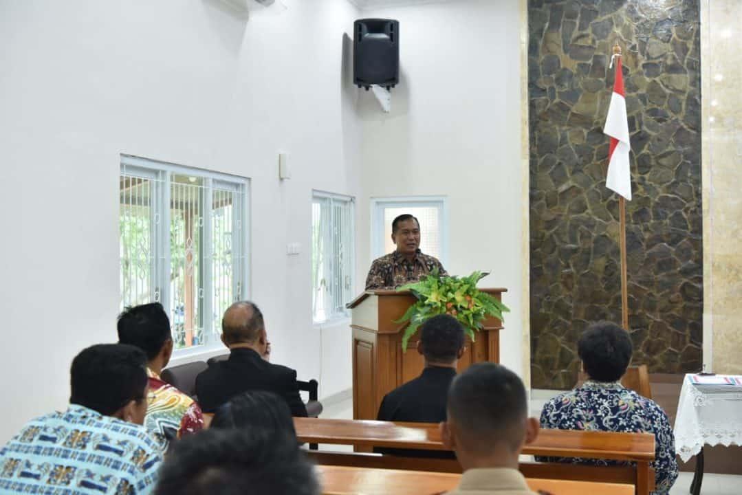 Danlanud Adisutjipto Hadiri Pengukuhan Jemaat GKPO Immanuel Lanud Adisutjipto