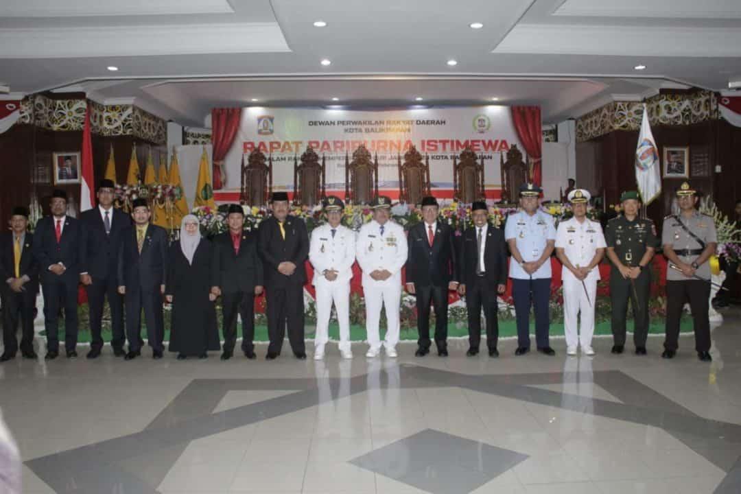 Komandan Lanud Dhomber Hadiri Rapat Paripurna Istimewa HUT Kota Balikpapan 2020