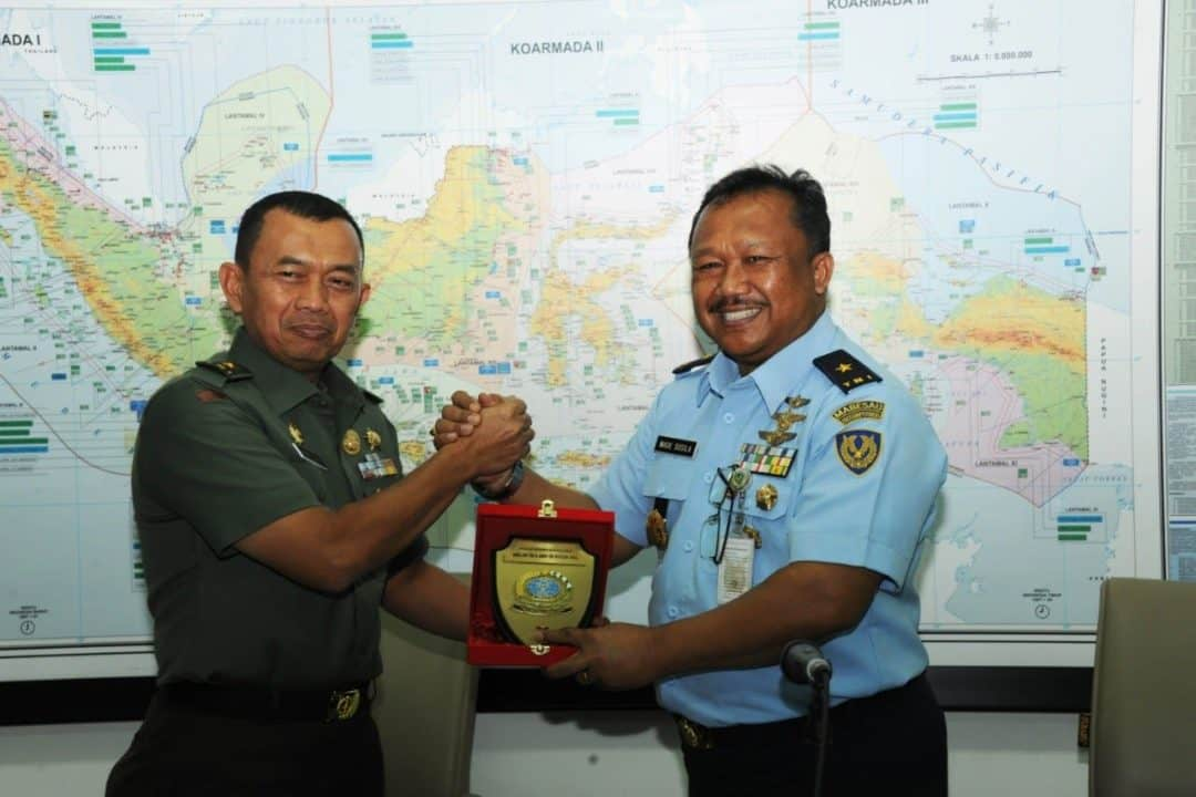 Kadissurpotrudau berkunjung ke Direktorat Topografi Angkatan Darat