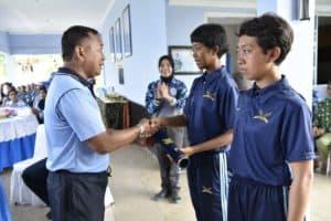 Doa dan Olahraga Bersama Danlanud Adisutjipto dengan siswa Semaba Wara Angkatan 44